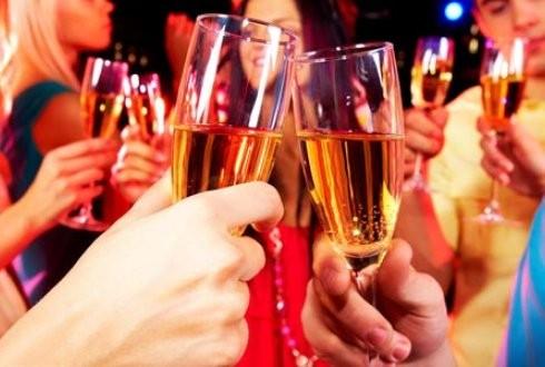 champagne proosten